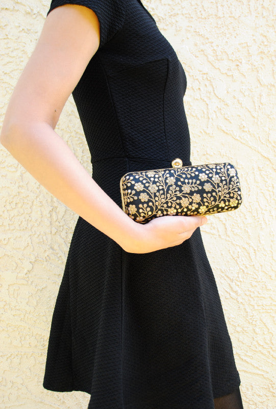 Black Hamida clutch - Desi Royale