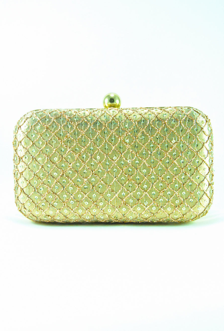 Gold Glitter Clutch - Desi Royale