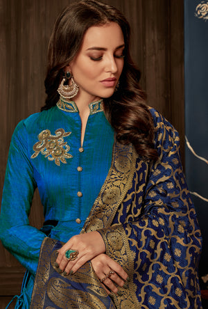 Peacock Anarkali Suit - Desi Royale