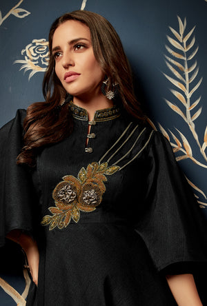 Black Anarkali Suit - Desi Royale