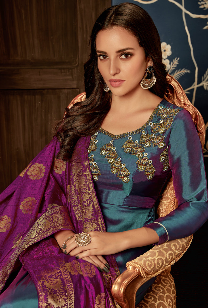 Multicolor Anarkali Suit - Desi Royale