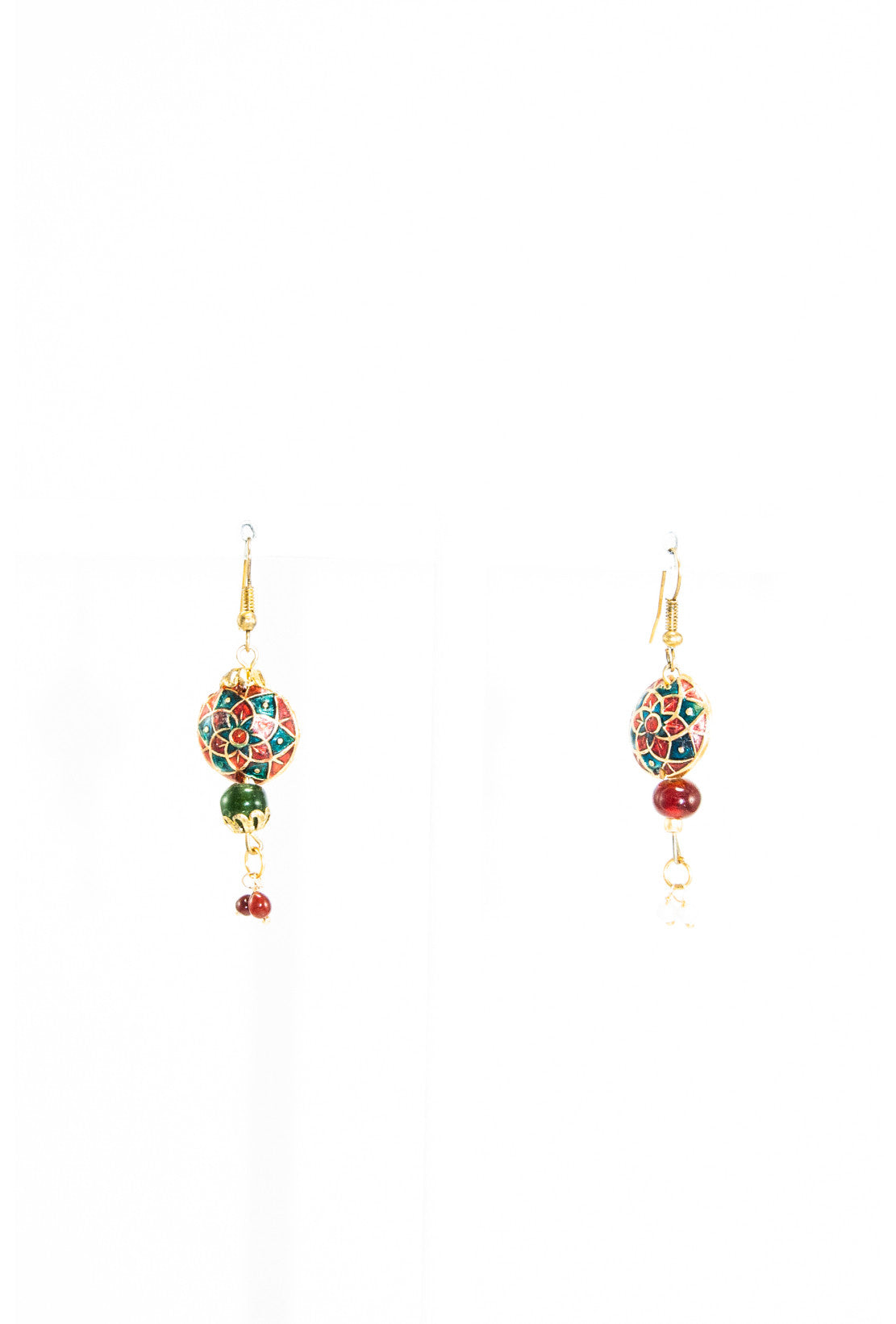 detailing delicate tone work v satin cut gold finish products small plated marrakesh dual earrings with round in inspired