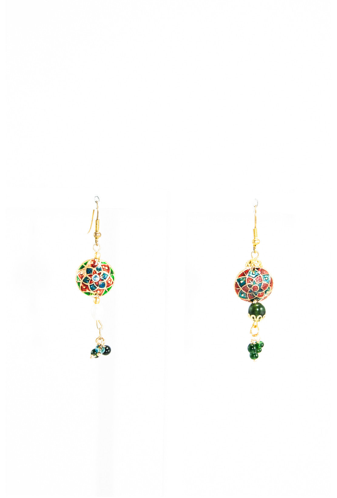red mannequin earring quartz spinel green earrings mukthaa stone work greenquartz product
