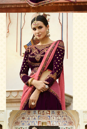 Maroon Lehenga Dress - Desi Royale