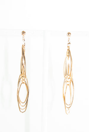 Gold multi circle earrings - Desi Royale
