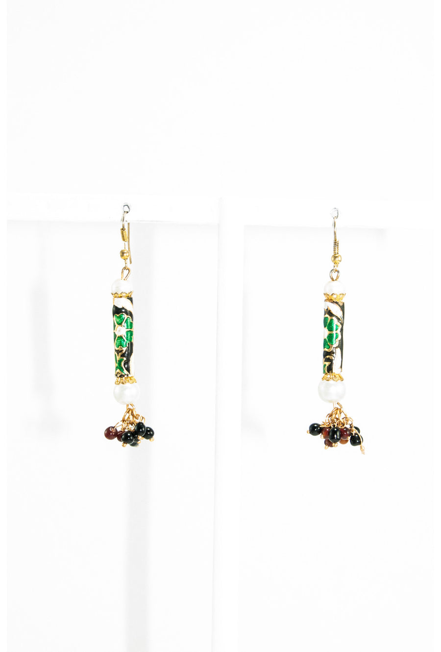 Multicolor meenakari work earrings - Desi Royale
