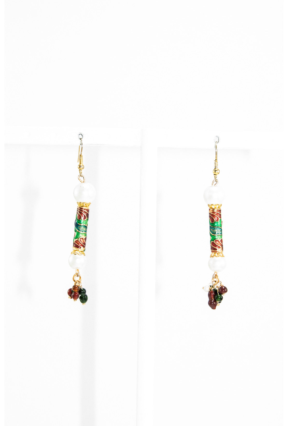 earring products earrings work meenakari desi drop multicolor royale green with desiroyale