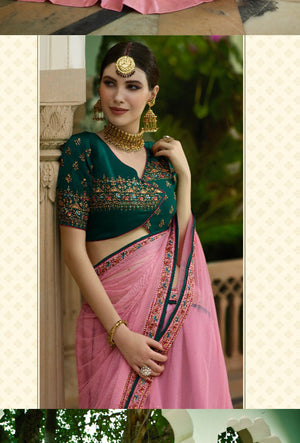 Pink Lehenga Dress - Desi Royale
