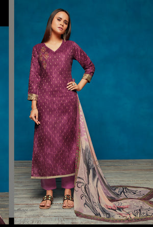Purple Indian Suit - Desi Royale