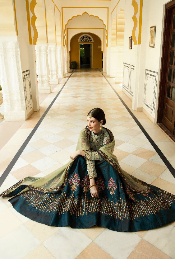 Green Lehenga Dress - Desi Royale