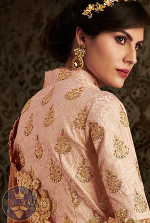 Straight Embroidered Suit - Desi Royale