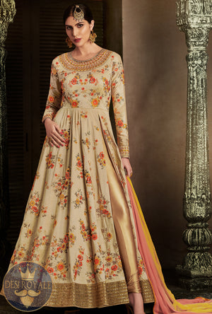 Multicolor Embroidered Dress Anarkali - Desi Royale