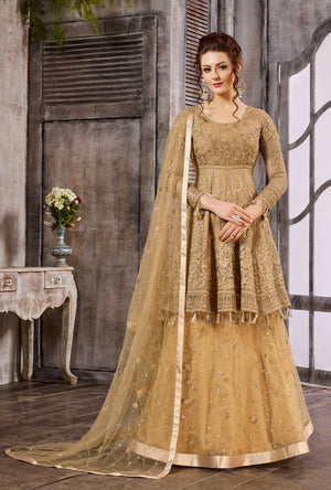 Bronze Anarkali Dress - Desi Royale