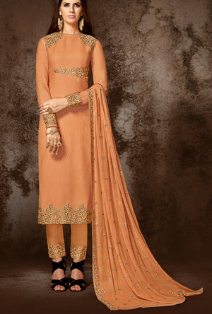 Bronze Designer Indian Suit - Desi Royale