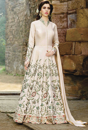 Off White  Designer Party Wear Suit - Desi Royale