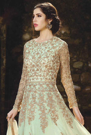 Green Designer Party Wear Suit - Desi Royale