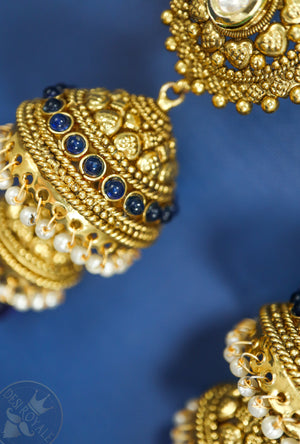 Traditional jhumki earrings - Desi Royale