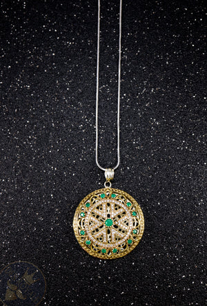 Chakra Silver pendant with gemstones - Desi Royale