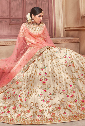 Cream Lehenga Dress - Desi Royale