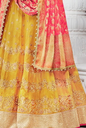 Multicolor Designer Party Wear Lehenga Set - Desi Royale
