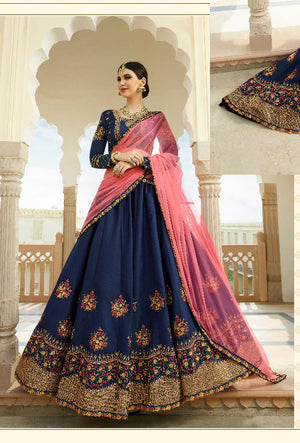 Blue Lehenga Dress - Desi Royale
