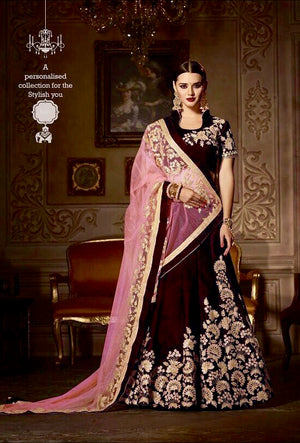 Purple Designer Wedding Lehenga Set - Desi Royale