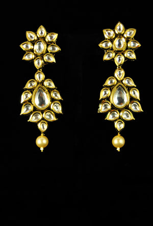 Elegant bridal kundan necklace set - Desi Royale