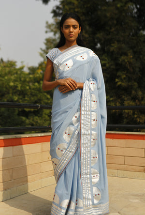 Foil Print Saree  By Kanelle - Desi Royale