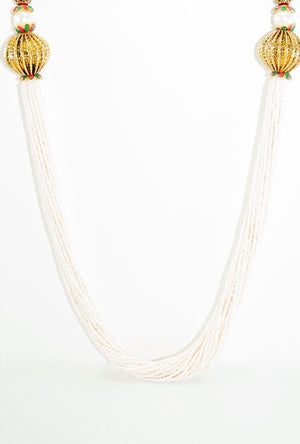 Rukmani Necklace Set With Sterling Strings - Desi Royale