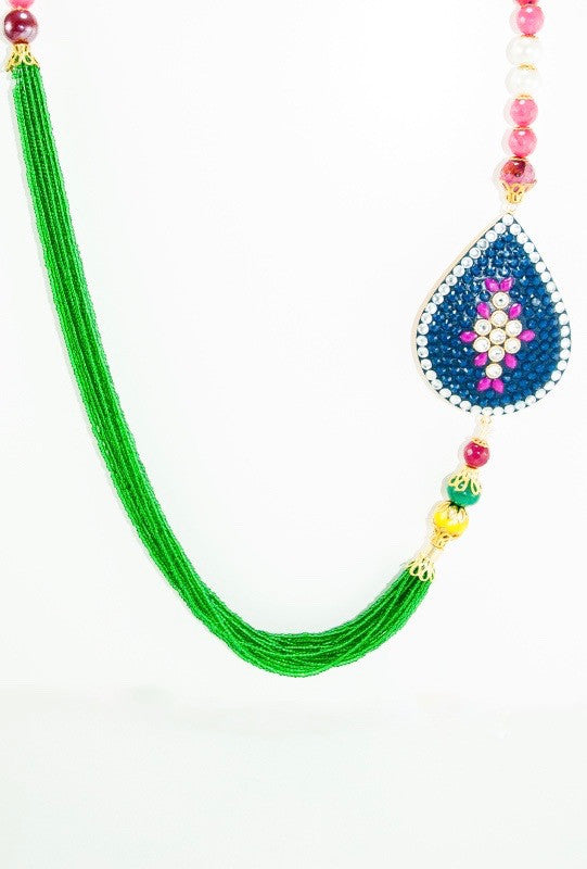 Leaf Brooch Necklace - Desi Royale
