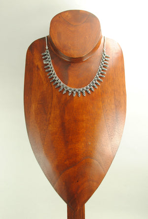 Sterling Cuneate Necklace - Desi Royale