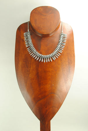 Sterling Silver Necklace With Beads - Desi Royale