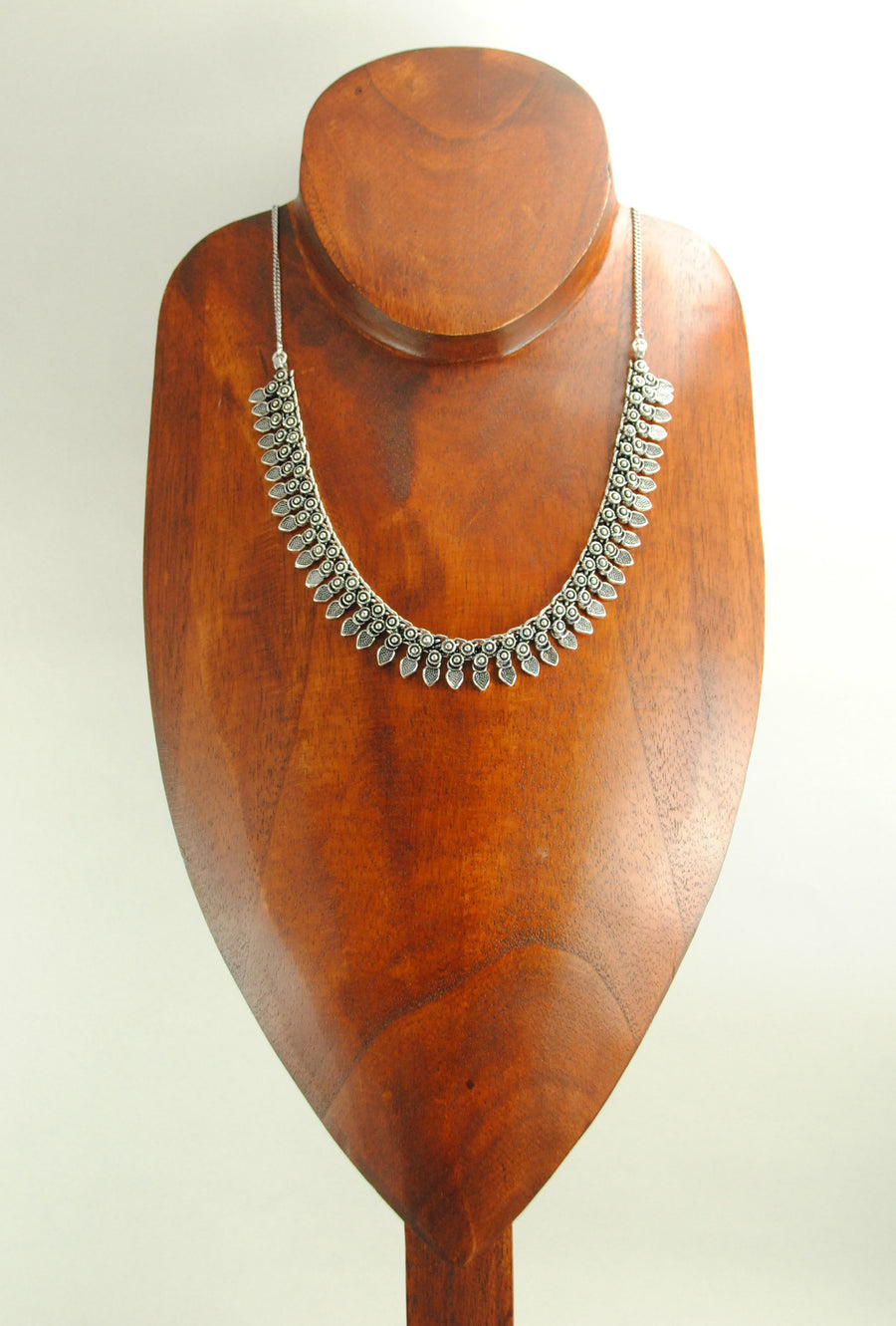 Sterling Silver Ovate Necklace - Desi Royale