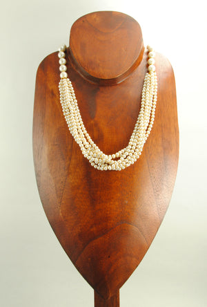 Ivory Pearl Necklace Set - Desi Royale