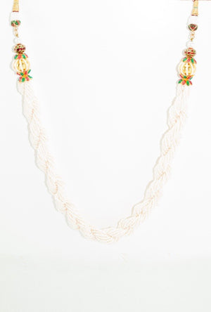 White Pearl necklace set - Desi Royale