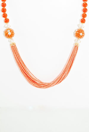 Ratnabali Necklace Set With Sterling Beads - Desi Royale