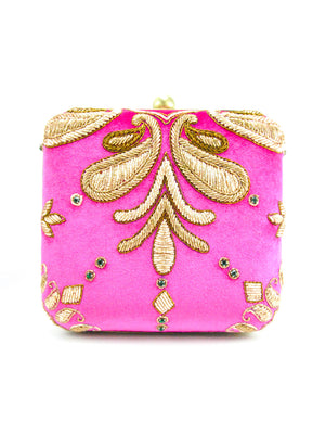Pink Wedding Clutch - Desi Royale
