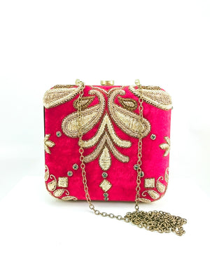 Red Wedding Clutch - Desi Royale