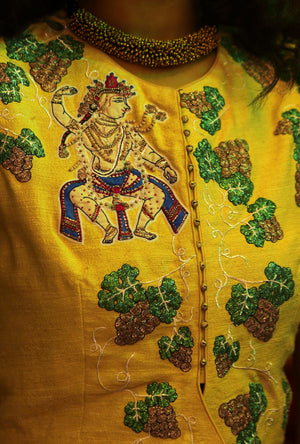 Krishna Jacket in silk - Desi Royale