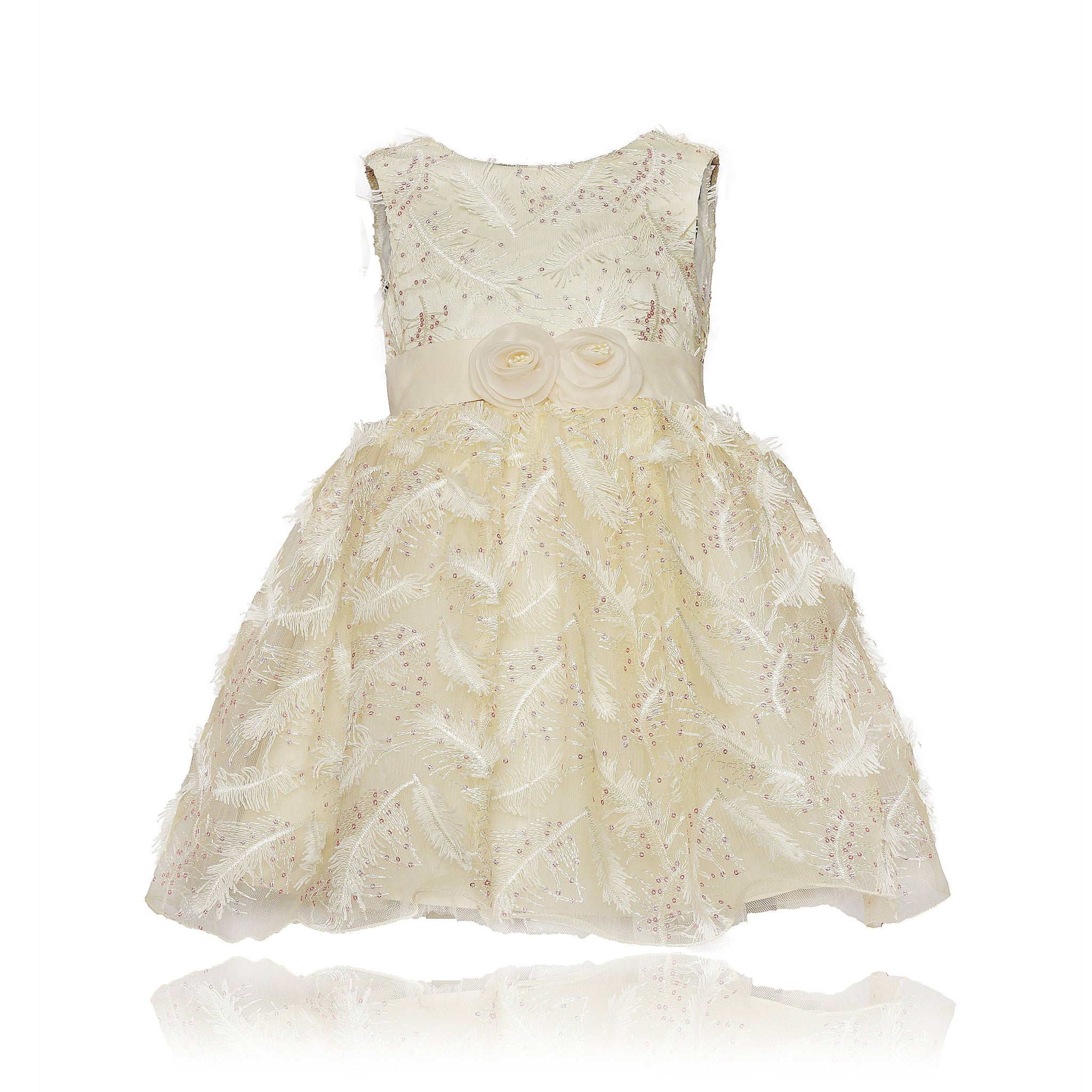 Buy Coctail Cream Glitter Princess Frock For Baby Girls Online Coctail