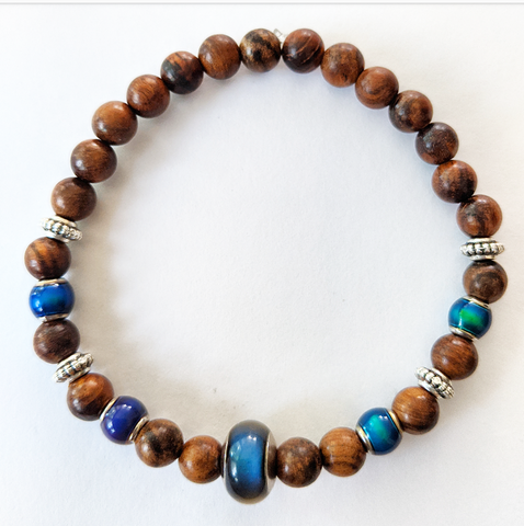 "Dark Wood Color Changing ""Mood"" Bracelet"