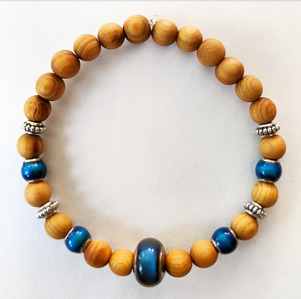 "Wood Color Changing ""Mood"" Bracelet"