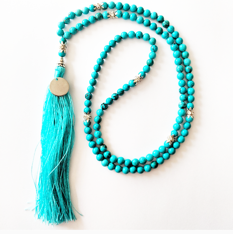 Mala Style Green Turquoise Necklace