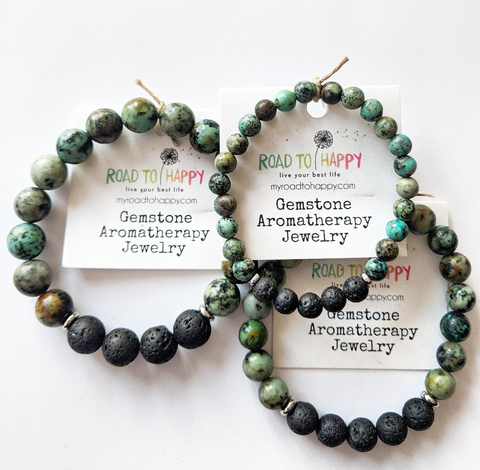 Aromatherapy Bracelet - African Turquoise