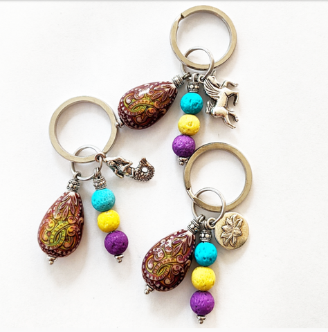 Color Changing Aromatherapy Charm/Key Ring