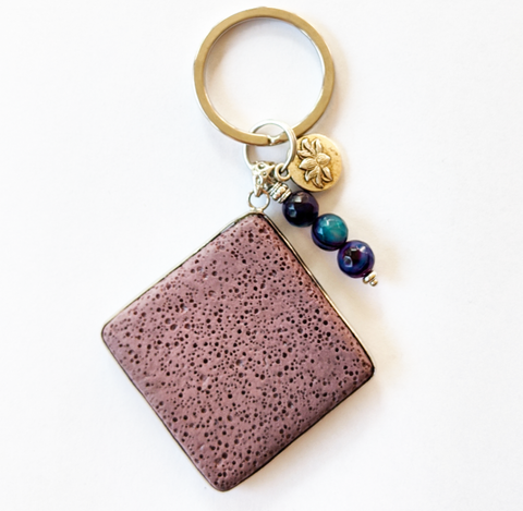 Purple Aromatherapy Charm/Key Ring