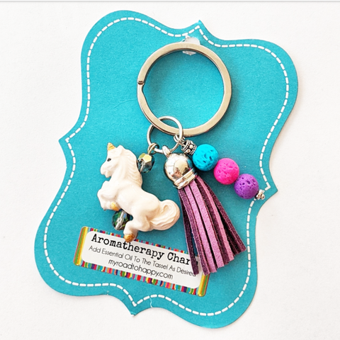 Unicorn Aromatherapy Charm/Key Ring