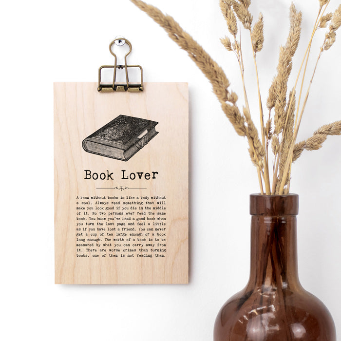Book Quotes Wooden Sign with Hanger
