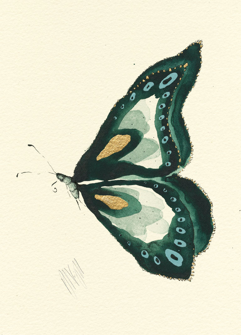 Emerald Butterfly Print