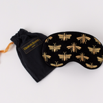 Elizabeth Scarlett Bee Black Velvet Eye Mask